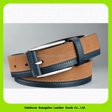 15195 Color matched genuine leather Pin buckle men leather belt