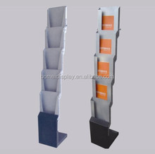 Folding perforated Steel metal literature shelf