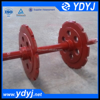 Driving wheel and shaft assembly of bucket elevator