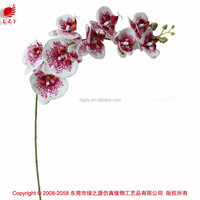 Small real touch orchids artificial flower plants for sale