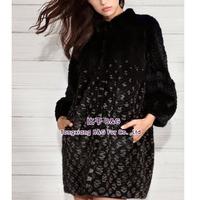 BG29774 Women Winter Real Natural Mink Fur Coat with cashmere lining European design
