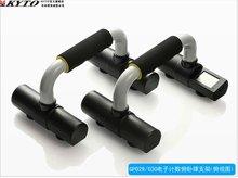 digital de fitness el recuento de empujar hacia arriba la barra con la fuerza de la pantalla