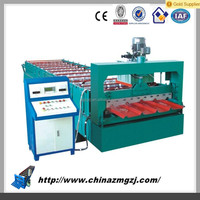 New Type CE Two Profile Automatic electric tile cutter Control Double Layer Glazed Tile Roll Forming Machine
