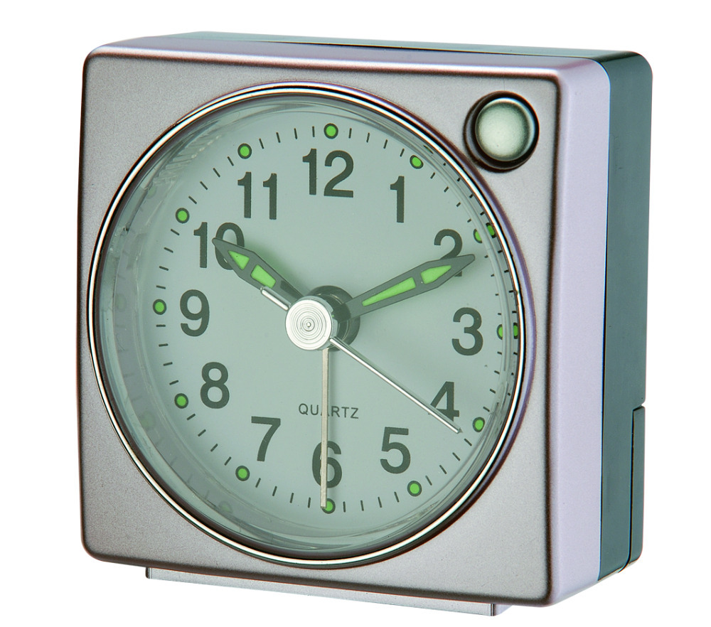Simple Small Travel Touch Light Sweep Alarm Clocks