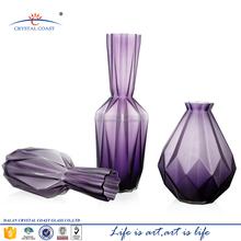 hand blown different types purple glass vase