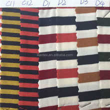 In the high-end mercerized cotton knitted jersey fabric and cotton yarn dyed stripe striped Jersey