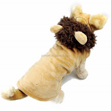 Shorn Velvet Autumn Winter Lion Shape Dog Hoodie Clothes