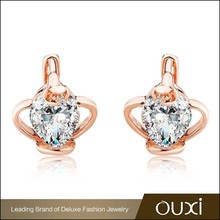 OUXI fashion costume zircon earring wholesale jewelry manufacturers istanbul turkey
