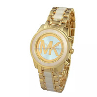 good quality and good price solid alloy gold and rose gold watch from factory directly