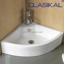 CLASIKAL modern design corner shape above counter ceramic art basin