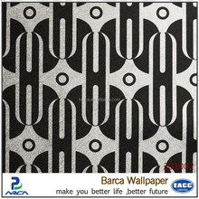 Home decoration elegant fashion black and white wall papers