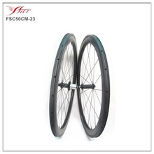 Bicycle wheels 20 inch 50mm x 23mm carbon bike clincher rim with powerway R36 Straight pull hub