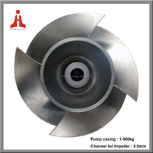 126kg raw casting open centrifugal pump impeller pump blade,stainless steel fan impeller
