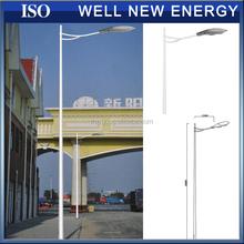 single & double arm galvanized octagonal conical street lighting lamp pole