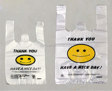 biodegradable thank you shopping t shirt bags
