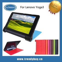 Smart cover flip leather case for lenovo yoga3 850f