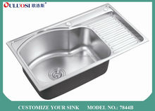 top level crazy selling short-time delivery 18 gauge stainless steel kitchen sinks 7844B