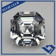 Artificial octagon white synthetic cubic zircon wholesale price