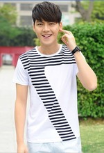 Wholesale Cotton Charming Casual Men's Fashion Short Sleeve O Neck T-shirt