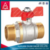 2014 new wholesale ppr plastic ball valve with steel core