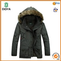 2014 New Design Men's Customized Outdoor Hoodie Thick Padding Down Jacket