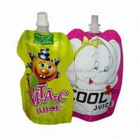 Best price juice packaging spout bag/juice bag/drink pouch with spout packaging
