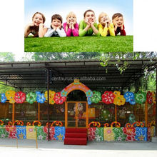 New design amusement park rides track train of happy spray ball with good price