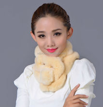 Wholesale 2012 new design fur scarf trapper winter hat with gloves paws rabbit knitted scarf