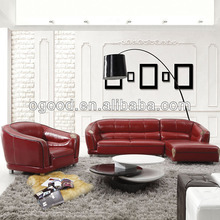 Top red leather sofa set brands OS6882