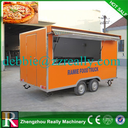 European quality , Chinese price mobile tricycle food cart for sale, commercial fast food van for sale hot dog carts food truck