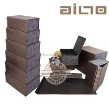 rectangular high class fabric dinnerware set gift foldable box