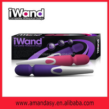 Magic Wand Massager Waterproof Multiple Speed Wireless Rechargeable Original Mini Travel sized Silicone Wand ADK037