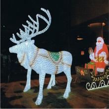 H 2M L 6M W 1.1M led reindeers/deers family Christmas 3d animal modeling light