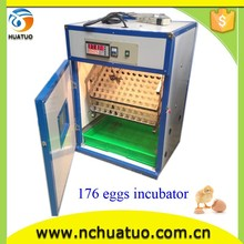 2015 best seller full automatic 100 eggs small brooder cage for chicken egg incubation HT-176 for sale