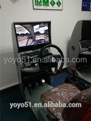 SX-2013 High quality car driving simulator with real components and monitor