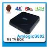 Original M8 M8N Amlogic S802 Quad Core Android 4.4 Smart TV Box Kodi 14.2 4K Miracast + Air Mouse