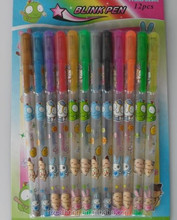 Wholesale fluorescence shining gel ballpoint pen set as gift pen for painting CH-6103