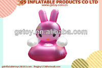 PVC inflatable comfortable single little rabbit desgin inflatable air chair for kids EN71 approved