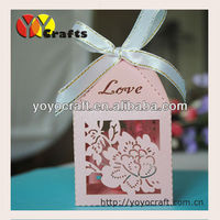 """Custom """"flower"""" laser cut Wedding Gift Boxes birthday favor packaging box paper craft wedding favor box for candy"""