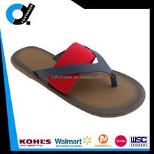 Latest design PU slippers sandal PU thong upper with elastic ribbon