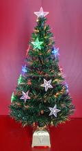 3 Feet Fiber Optic Christmas Tree with LED Stars Decoration