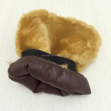 Brown Synthetic Wool Cleaning mitt Car Wash Mitt
