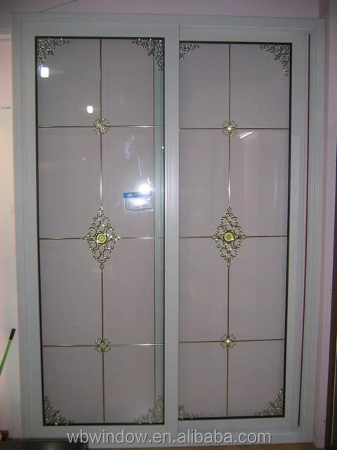Interior Design Frosted Glass Pvc Bathroom Sliding Door