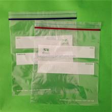 Clear plastic PE/LDPE medical zipper lock bag