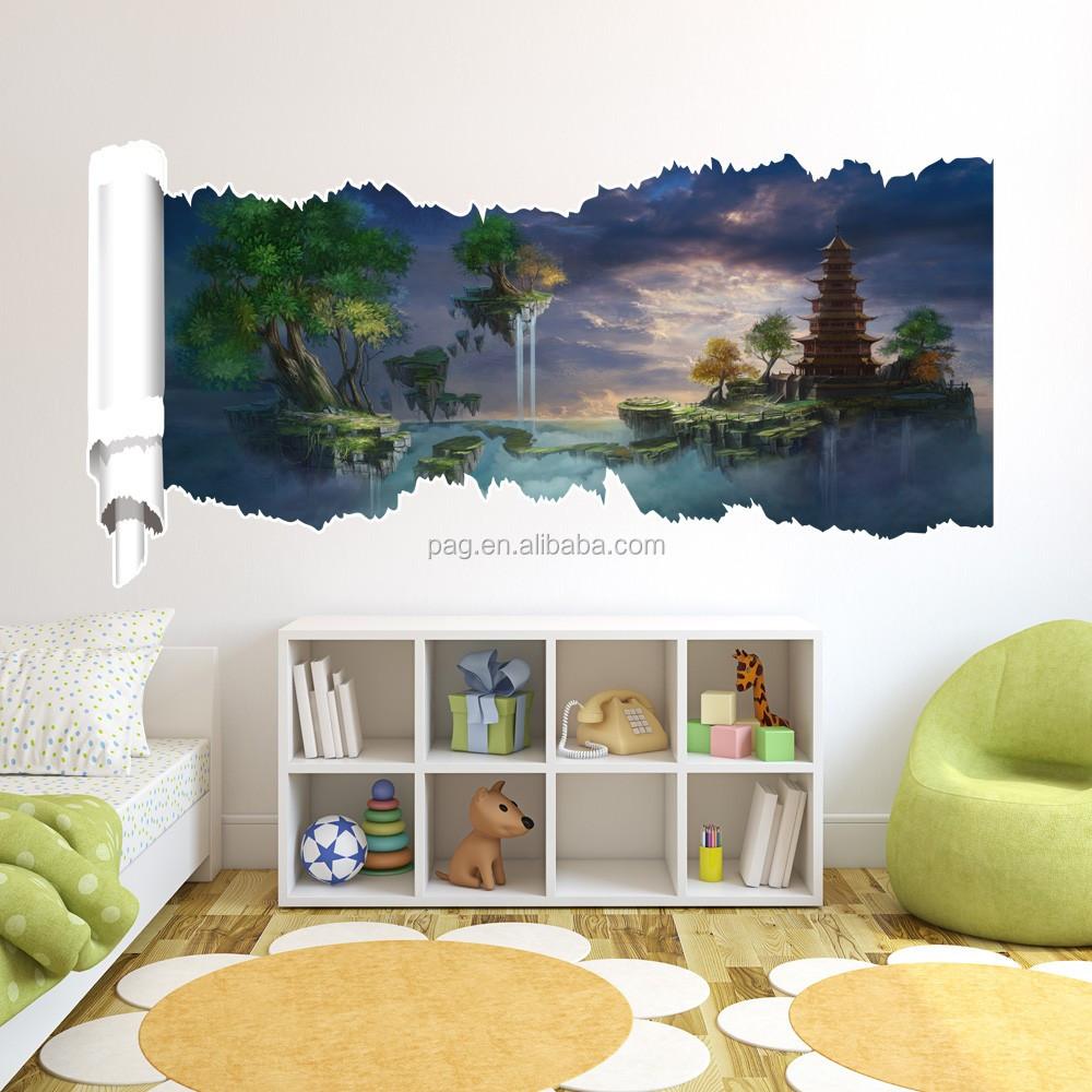 Haute qualit de luxe pvc salon 3d papier peint pour mur for Produit decoration interieur