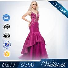 Factory Wholesale Unique Design Full Handwork Beaded Deep-v Red Wedding Dresses