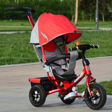 Frame Metal Child Tricycle with roof,Contemporary Baby Tricycle,Children tricycle for safety belt