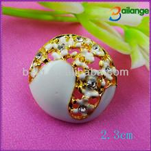 2014 accesorios de la ropa de diamantes de imitación de diamante de imitación botones broches y botones