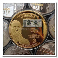 high quality gold anodized coin