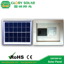 2W 6V Framed Low Price Mini Solar Panel For Lighting